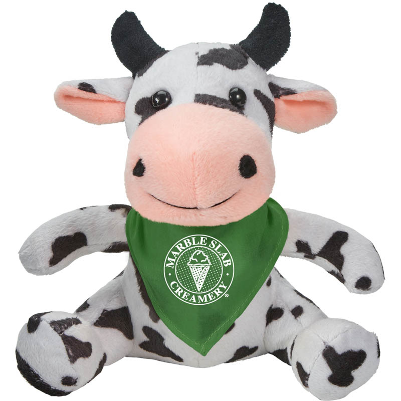 Cory the Cow Plush Animal with Bandana 6002,6002,Fuzzy,Friends,Cow,Bandana,