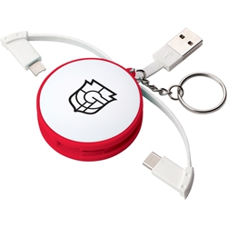 Condor Charging Cable Keychain SM-3663,SM3663,Wrap,Around,3-in-1,Charging,Cable,