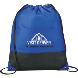 Viper Non Woven Two Tone Drawstring Backpack SM-7347, sm7347, west, coast, drawstring, cinch, backpack