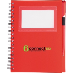 Pelican Junior ID Holder Notebook with Pen SM-3457, sm3457, star, spiral, notebook