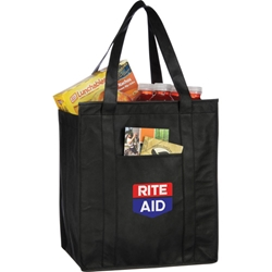 Shopaholic Insulated Full Size Shopping Tote 13 x 15 x 9 SM-7431, sm7431, non-woven, non, woven, hercules, grocery, tote