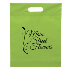 Blossom Die Cut Handle Bag 12 x 15 x 3 Classic die, cut, handle, bag, 19FS1215, plastic