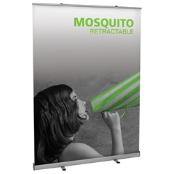 "Mosquito Economy Retractable Banner Stand 59"" W MSQT-1500, MSQT-1500-S, MSQT1500, MSQT1500S"
