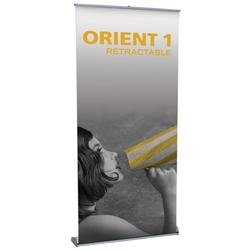 "Orient 1 Standard Retractable Banner Stand 39.25"" W ONT-1000, ONT-1000-S, ONT-1000-B, ONT1000, ONT1000S, ONT1000B"