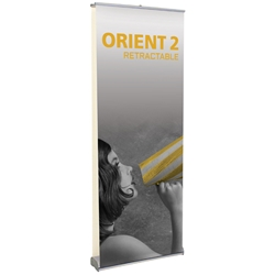 "Orient 2 Double Sided Standard Retractable Banner Stand 31.5"" W ONT-800-DBL, ONT-800-DBL-S, ONT-800-DBL-B, ONT-800-DBL-S-3, ONT-800-DBL-B-3, ONT800DBL, ONT800DBLS, ONT800DBLS3, ONT800DBLB, ONT800DBLB3"