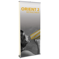 "Orient 2 Double Sided Standard Retractable Banner Stand 35.5"" W ONT-920-DBL, ONT-920-DBL-S, ONT-920-DBL-B, ONT-920-DBL-S-3, ONT-920-DBL-B-3, ONT920DBL, ONT920DBLS, ONT920DBLS3, ONT920DBLB, ONT920DBLB3"