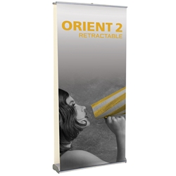 "Orient 2 Double Sided Standard Retractable Banner Stand 39.25"" W ONT-1000-DBL, ONT-1000-DBL-S, ONT-1000-DBL-B, ONT-1000-DBL-S-3, ONT-1000-DBL-B-3, ONT1000DBL, ONT1000DBLS, ONT1000DBLS3, ONT1000DBLB, ONT1000DBLB3"