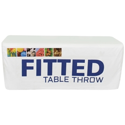 6 Dye Sublimated Fitted Table Throw TBL-FT-6-F