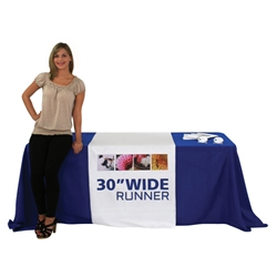 "30"" Dye Sublimated Table Runner"