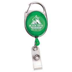 Spirit Retractable Badge Holder RBRCA,RBRCA,30?,Cord,Retractable,Carabiner,Style,Badge,Reel,and,Badge,Holder,
