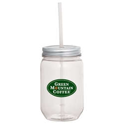 Champion Mason Jar with Silver Lid 22 oz sm-6922, sm6922