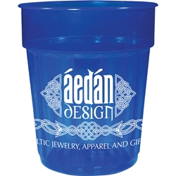 Arcade Fluted Stadium Cup 16 oz - Translucent Collection HL-585, HL585, 16-oz., Fluted, Jewel, Stadium, Cup