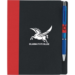 Landover Junior Notebook with Sticky Flags 15693,5x7,ECO,Notebook,w/Flags,paper,recycled,flags,business,card,holder