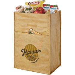 Old School Laminated Lunch Cooler SM-7764,SM7764,12,Can,Paper,Bag,Cooler,