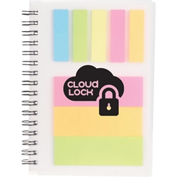 Stickymania Mini Notebook SM-3413,SM3413,Peppi,Spiral,with,Sticky,Notes,