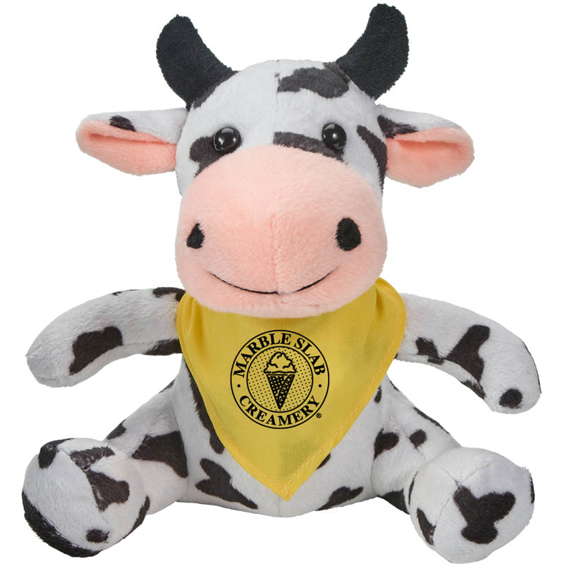 Cory the Cow Plush Animal with Bandana // DISCONTINUED - 20853