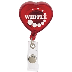 Heart Retractable Badge Holder 65066,65066,Caring,Heart,Retractable,Badge,Holder,