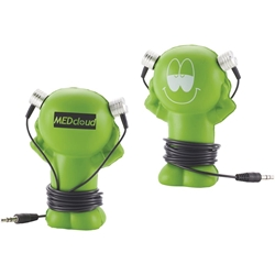 Earbud Dude SM-2574,SM2574,Little,Guy,Wired,Earbuds,