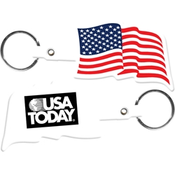 Flexible Key Tag - US Flag 563,563,U.S.,Flag,Flexible,Key-Tag,