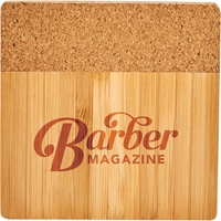 Bamboo & Cork Coaster Set 1031-72,103172,Bamboo,and,Cork,Coaster,Four,Piece,Set,