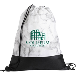 Marble Non Woven Drawstring Backpack 15959,15959,Marble,Drawstring,Backpack,