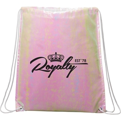 Iridescent Laminated Drawstring Backpack SM-5899,SM5899,Iridescent,Non-Woven,Drawstring,Bag,