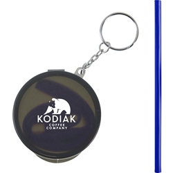 Reusable Silicone Straw Keychain SM-6400,SM6400,Reusable,Silicone,Straw,Keychain,