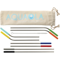 Reusable Stainless Steel Straw 10 Piece Set 1628-39,162839,Reusable,Stainless,Straw,10,in,1,set,