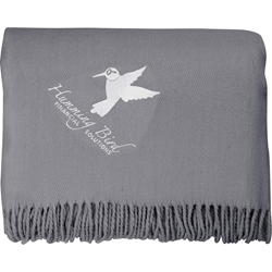 Oversized Lightweight Throw Blanket with Fringes - Embroidered 1081-09,108109,Oversized,Lightweight,Throw,Blanket,with,Fringes,